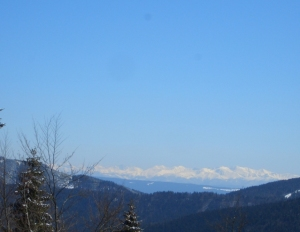 Beskiden - Sicht auf Tatra