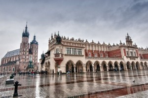 Krakau - Kraków im Regen
